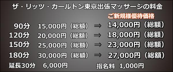 【ザ・リッツ・カールトン東京】で出張マッサージの料金