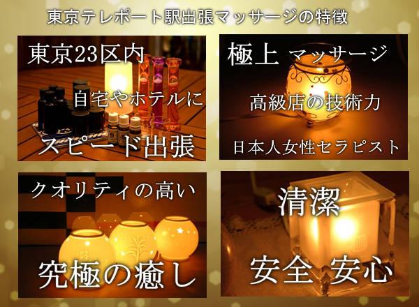 東京テレポート駅出張マッサージの特徴